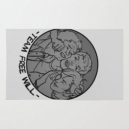 [ Supernatural ] Castiel Dean Sam Winchester Team Free Will Rug