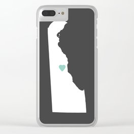 Delaware Love in Charcoal Clear iPhone Case