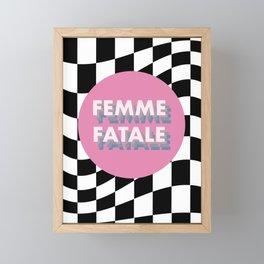 Femme Fatale Framed Mini Art Print