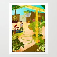 nursery Art Prints featuring The Nursery by Monique Gabrielle