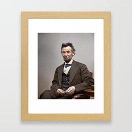 Abraham Lincoln Painting Framed Art Print