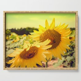 Yellow Summer Sunflower Serving Tray
