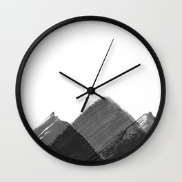 Minimalist Mountain Ink Art Print Wall Clock