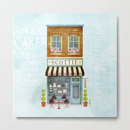 Scottie Bakery Storefront Metal Print