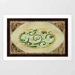 Celtic Old Traditional Tapestry Art Print