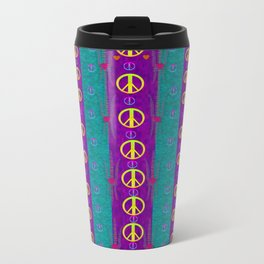 Peace be with us in this wonderful year in true love Metal Travel Mug