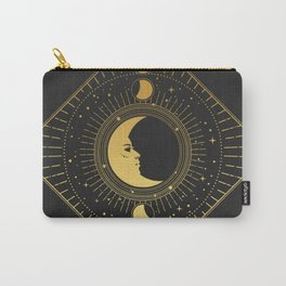 Golden ornate frame with Moon on black background - Carry-All Pouch