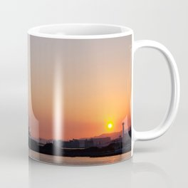 Sunset at an industrial harbour Coffee Mug