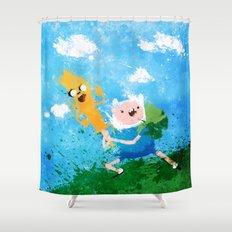 Battle Bros! Shower Curtain