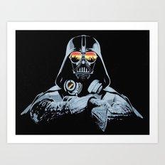 DJ Darth Vader Art Print