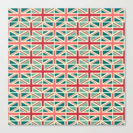 British/UK Flag Pattern Canvas Print