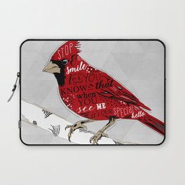 Cardinal Bird Lost Loved One Visiting Laptop Sleeve