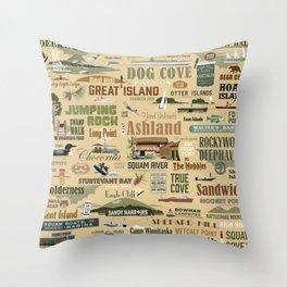 Squam-o-rama Throw Pillow
