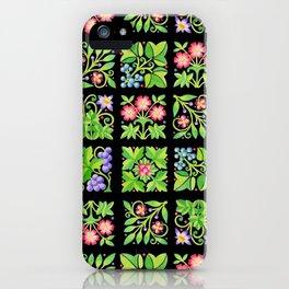 Tudor Flower Parterre iPhone Case