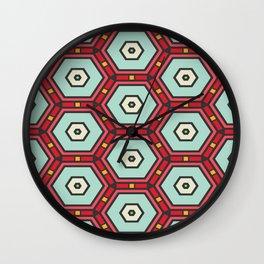 Hexagons pattern Wall Clock