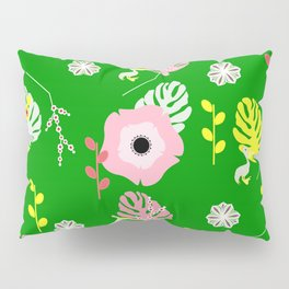 Flowers, leaves and ... pelicans Pillow Sham