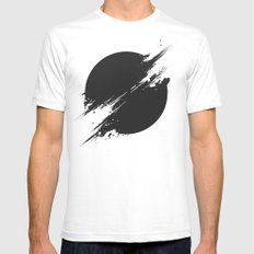 The Sun Is Black MEDIUM Mens Fitted Tee White