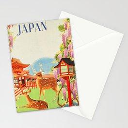 Japan vintage travel art poster Stationery Cards