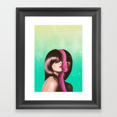 Split Hairs Framed Art Print