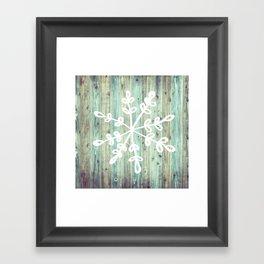 Rustic Snowflake Framed Art Print