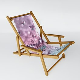 Pastel Unicorn Butterfly Glitter Dream #2 #shiny #decor #art #society6 Sling Chair