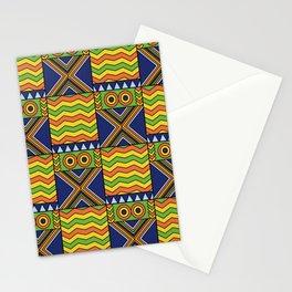 African Kente Yellow Green Orange Stationery Cards