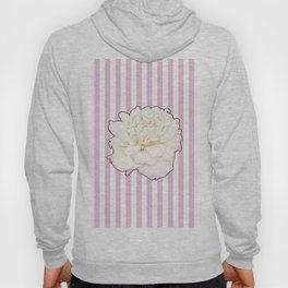 Pale Rose on Stripes Hoody