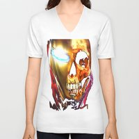 iron man V-neck T-shirts featuring Iron Man by Isaak_Rodriguez