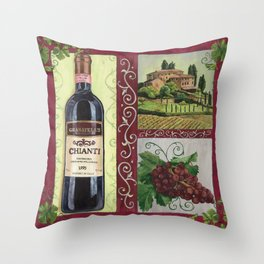 Chianti and Friends 1 Throw Pillow