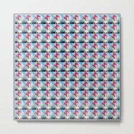 pinkhairedbarbiedollpattern Metal Print