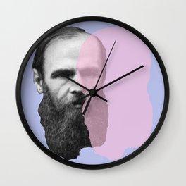 Fyodor Dostoevsky Wall Clock