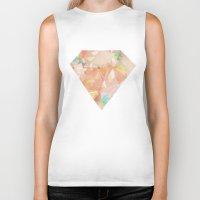diamonds Biker Tanks featuring Diamonds by Zeke Tucker