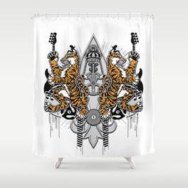 """""""Detroit Nouveau; Coat of Arms"""" Shower Curtain"""