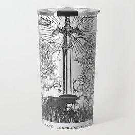 Legend of Zelda Master Sword Vintage Tarot Scene Travel Mug