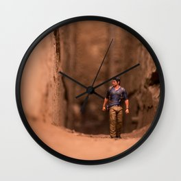 Exploring Uncharted Territory Wall Clock