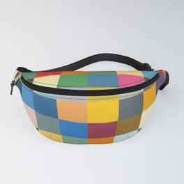 Haikili - Abstract Colorful Pixel Patchwork Art Fanny Pack