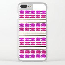 Stitch for stitch in pink Clear iPhone Case