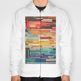 Colorful Book Stack Hoody