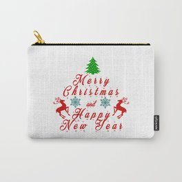 Merry Christmas and Hapy New Year Carry-All Pouch