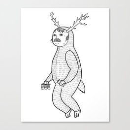 On the inconveniences of dressing up as an animal. Canvas Print
