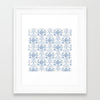 damask Framed Art Prints featuring Damask... by Catherine Ann Lewis