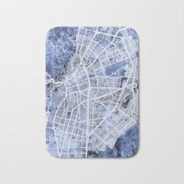 Cali Colombia City Map Bath Mat