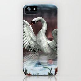 Landing Swan iPhone Case
