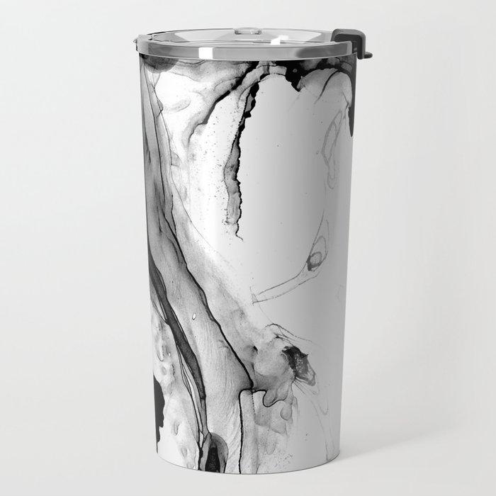 Soft Black Marble Travel Mug