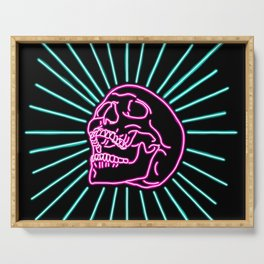 Pink Laughing Skull Serving Tray