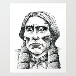Quanah Parker, Last Chief of the Comanches Art Print