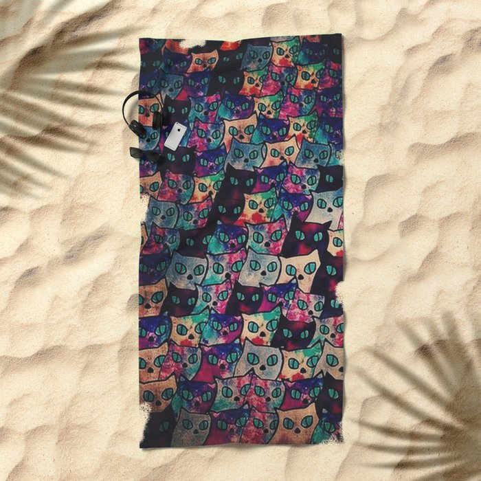 cats-171 Beach Towel
