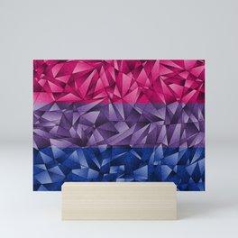 Abstract Bisexual Flag Mini Art Print