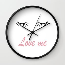 Love me 2 Wall Clock