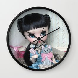 ** Carmen is delighted with her new kitty! :) ** Wall Clock